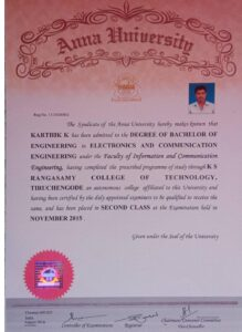 This one degree completed certificate